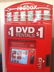 Our local RedBox, a pretty darn good way to rent movies