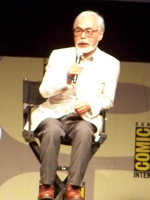 Hayao Miyazaki talks about Studio Ghibli's Ponyo at the Walt Disney/Pixar Animation Studios Presentation at San Diego Comic-Con International