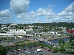 Gare de Saint-Lô vue depuis les fortifications