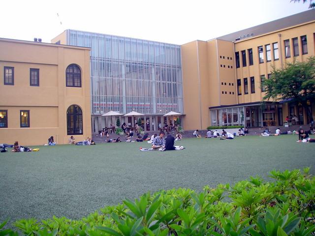 京都国際マンガミュージアムの庭