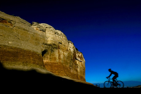 Mountain biking in solitude near Grand Junction