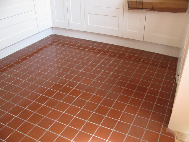 Quarry tile kitchen floor flickr photo sharing for Kitchen quarry tile