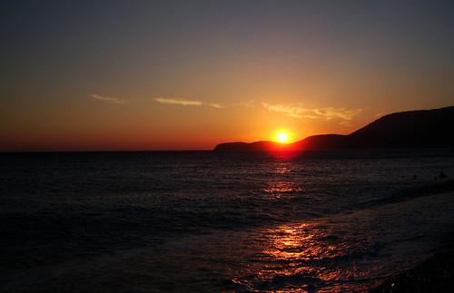 sunset albania borsh