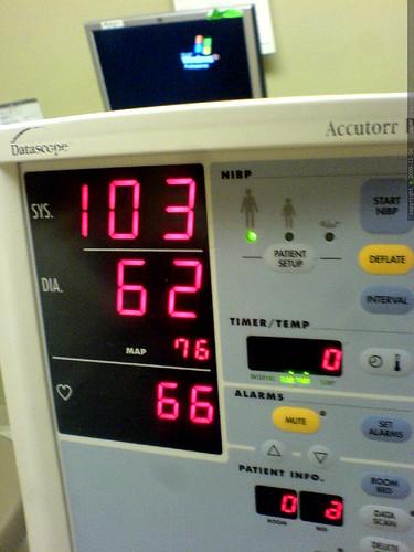 first of four blood pressure checks   DSC03189