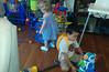 20160712 1850 - Sagan's 5th birthday party - Jami playing with car wash - 55