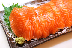 sashimi: salmon trout (from Chile)