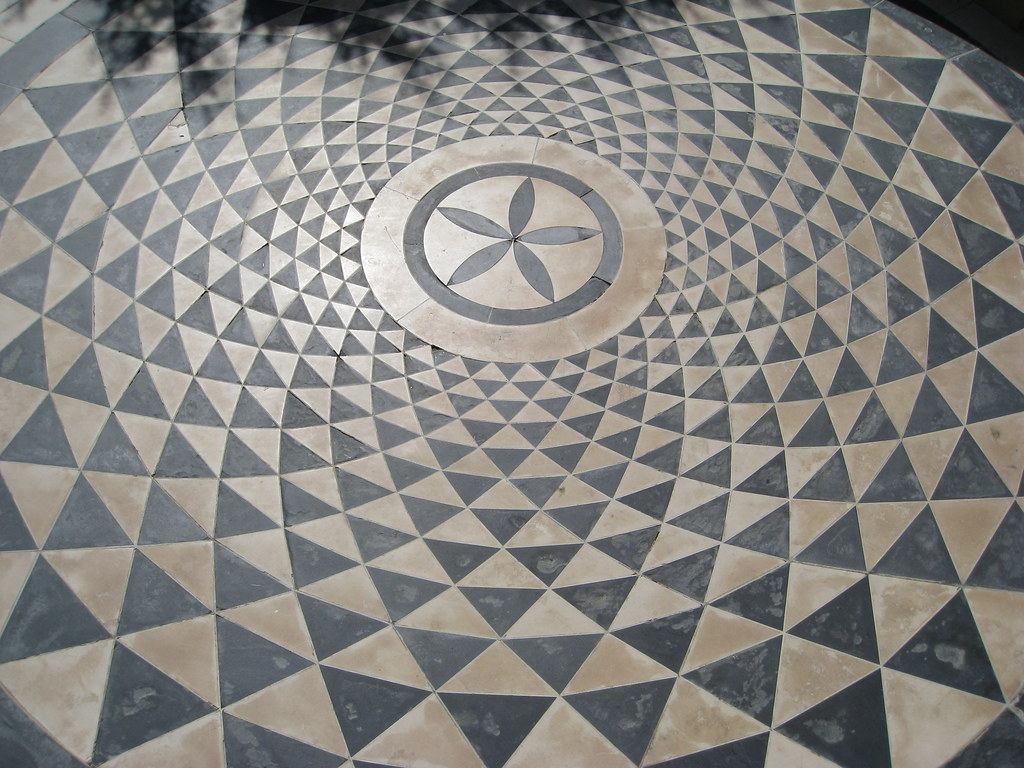 Western Inlay Floor Tile Circular Design : Concentric circular pattern floor a photo on flickriver