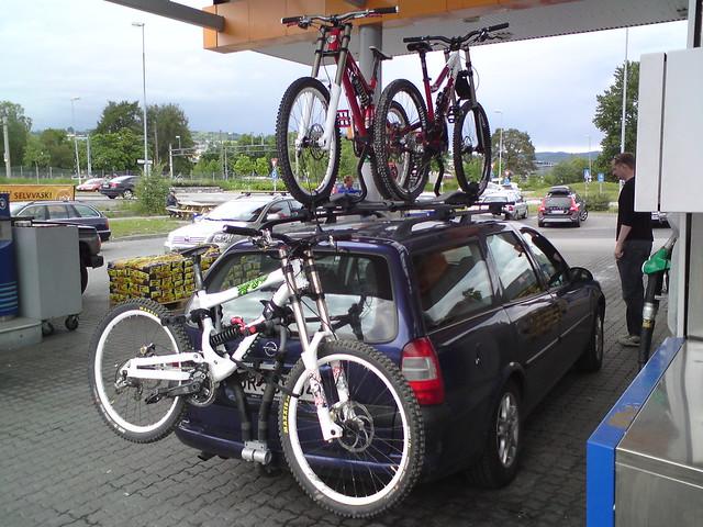 Regler sykkelstativ bil