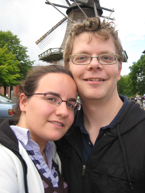 Us in front of Højer mill