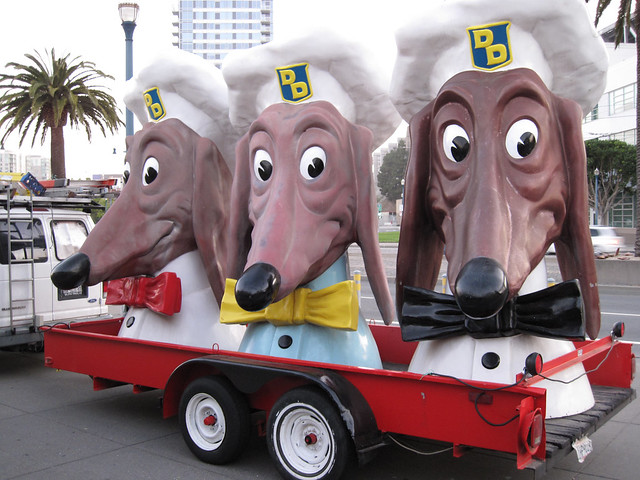 The Doggie Diner Dog Heads