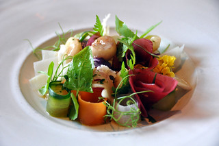 Restaurant Noma: Marv med syltede grøntsager