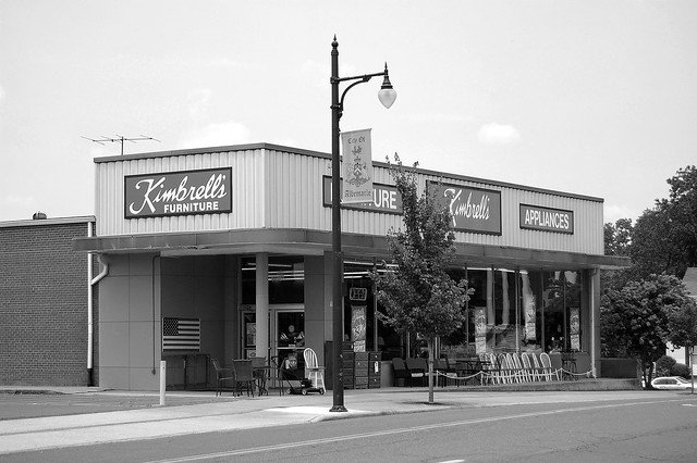 Kimbrell 39 S Furniture Downtown Albemarle Nc Black And White 7 11 09 Flickr Photo Sharing