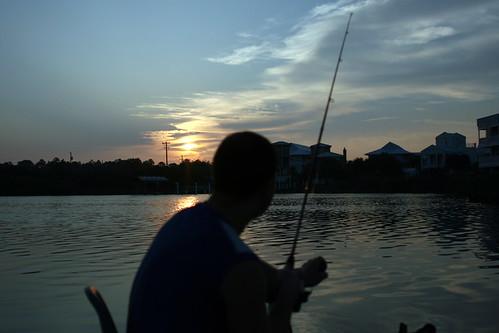 beach america sunrise fishing florida seagrove