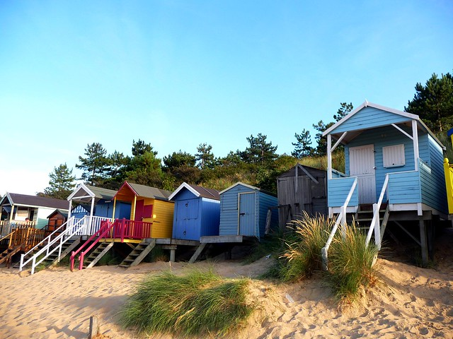 Beach huts, Wells beach, Norfolk