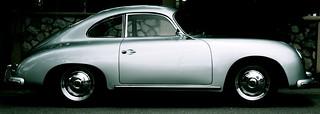 Sideview of An Antique Porsche (circa?)