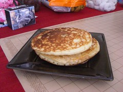 crumpet(0.0), meal(1.0), breakfast(1.0), food(1.0), dish(1.0), dessert(1.0), cuisine(1.0), pancake(1.0),