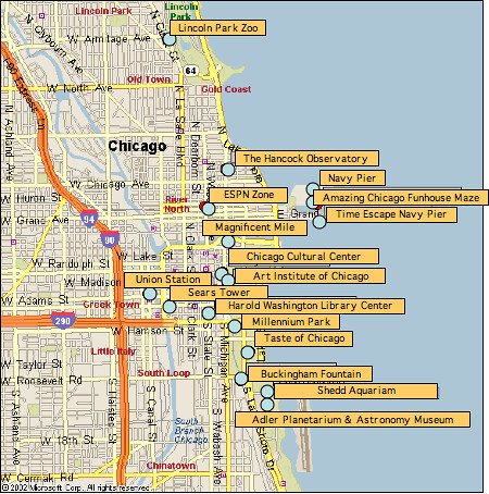 Chicago Tourist Map Modified From Google Maps Maps Google Flickr