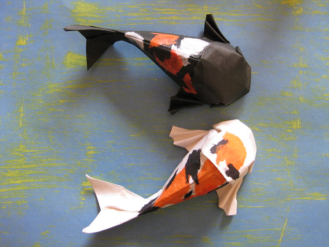 Paper play a gallery on flickr for Origami koi fish