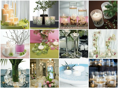 Simple candle wedding centerpieces decorations