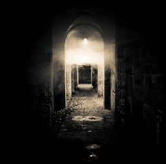 Dimly lit passage