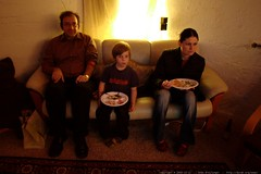 eating canadian thanksgiving among a basement full o…