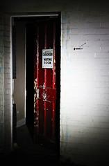 Door to the Chiropodist in West Park Asylum.