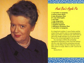 Mayberry Aunt Bee's Apple Pie Recipe Postcard