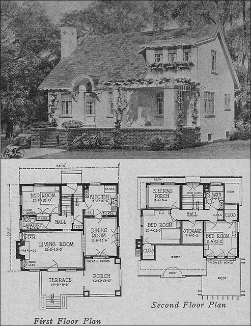 1923 cottage bungalow flickr photo sharing for Home plan books