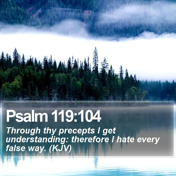 Daily Bible Verse Psalm 119104 Psalm 119104 Through Th Flickr