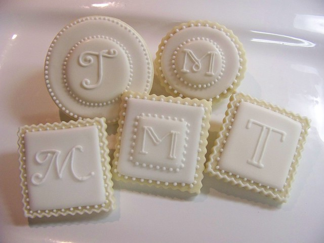 White and Cream Monograms