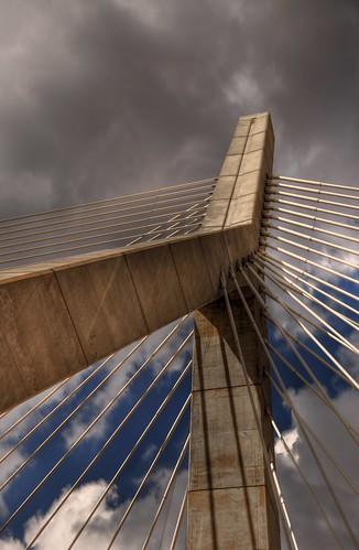 bridge sky clouds ma nikon hdr boson d90 leonardpzakimbunkerhillmemorialbridge nikond90 imagesbyarden