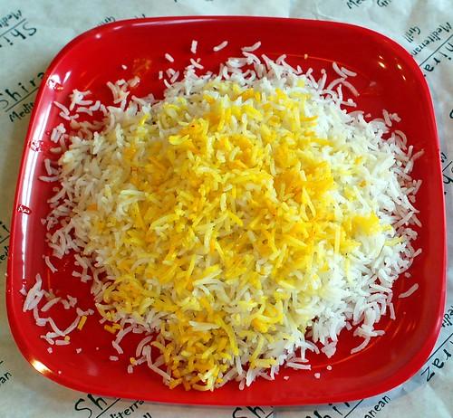 Basmati  White Rice  & Saffron Rice ( Persian Style )