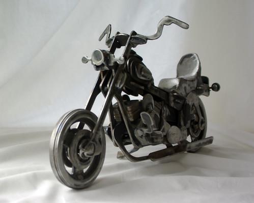 steel Harley Davidson sculpture