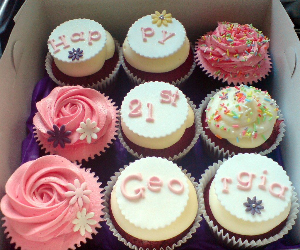 21st Birthday Cupcake Gift Box