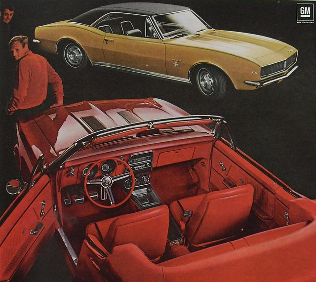 1966 advertisement for the 1967 CAMARO 22 350 Convertible VINTAGE CAR 1960s