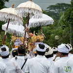 Funeral Procession in White - Bali, Indonesia