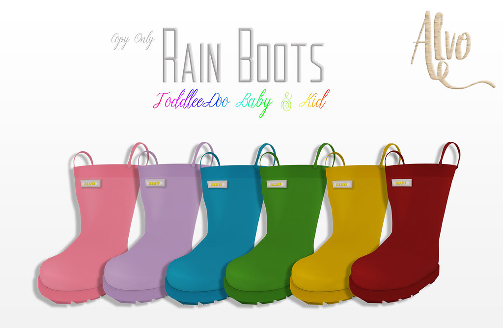 Alvo - Rain Boots (ToddleeDoo Baby & Kid) - SecondLifeHub.com