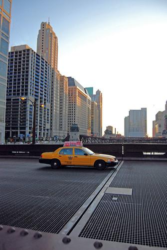 Chicago - Taxi on Bridge