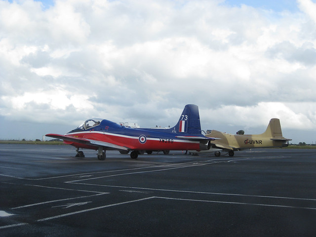 Planes at the Galway airport