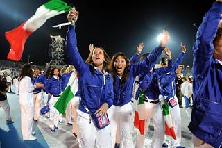 Gli Azzurri con Freddy ai Giochi del Mediterraneo