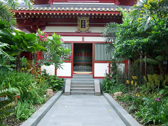 tooth relic temple - roof garden