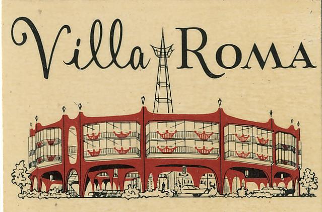 Villa Roma San Francisco Matchcover 1960s Flickr Photo