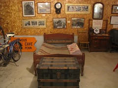 A Bedroom from Crystal Cave's 1876 Inn