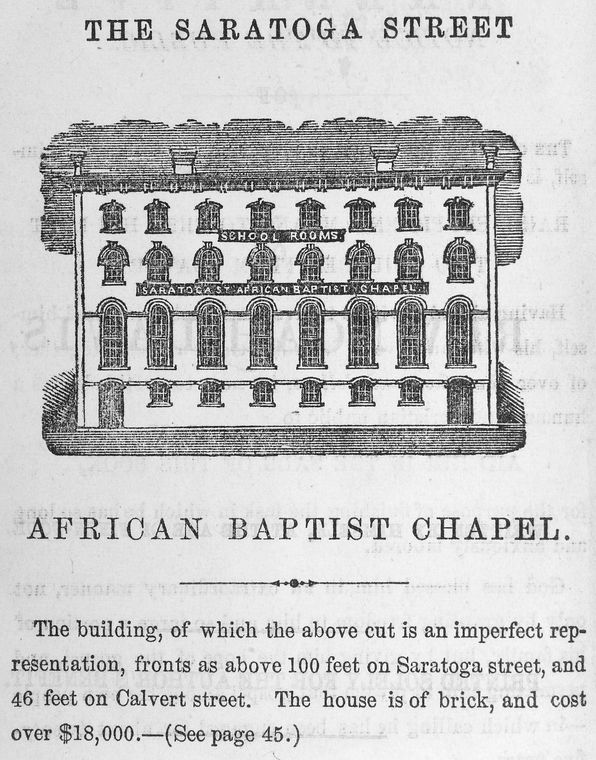 The Saratoga Street African Baptist Chapel. The building, of...