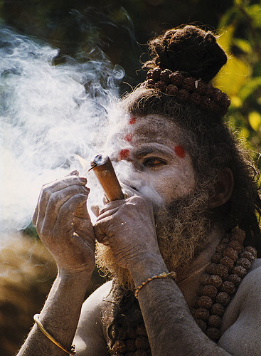 Sadhu smoke hashish or marijuana!!
