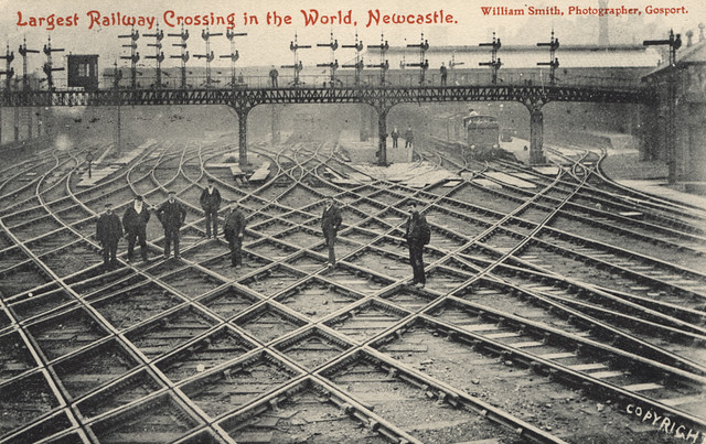 Largest railway crossing in the world, Newcastle-on-Tyne