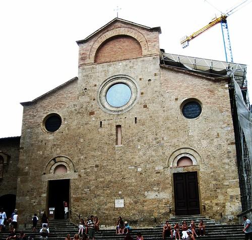 Stairs at the Duomo, San Gimignano