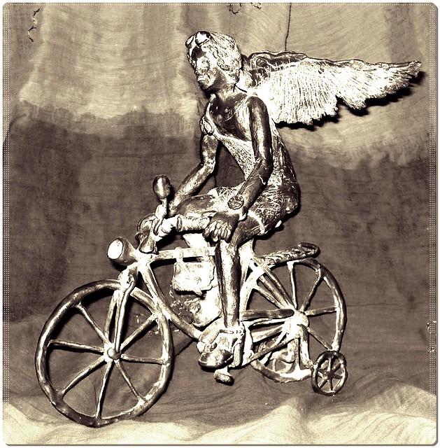 Angel on a bike