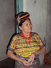Doña Pascuala, en ropa típica; Rabinal, Baja Verapaz, Guatemala