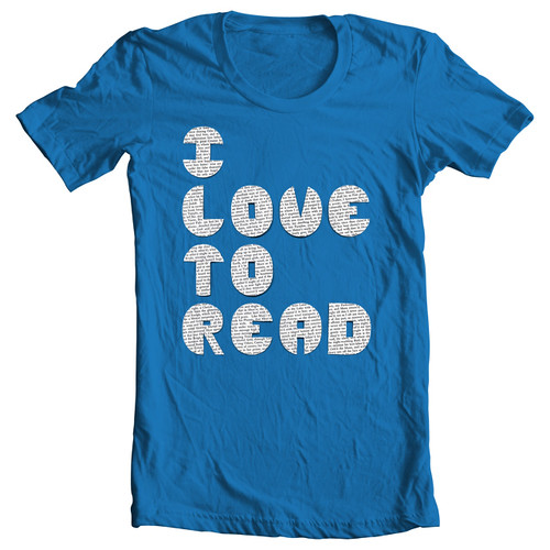 i love to read (blue)